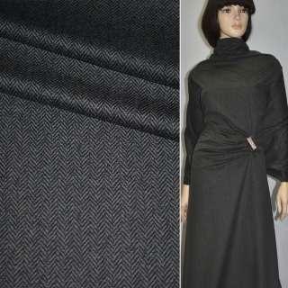 """Велюр костюмний сірий темний """"ялинка"""", ш.145 оптом"""