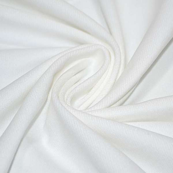 Велюр хлопковый белый ш.150 оптом