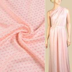 Вискоза розовая в мелкие розовые розы ш.140 оптом