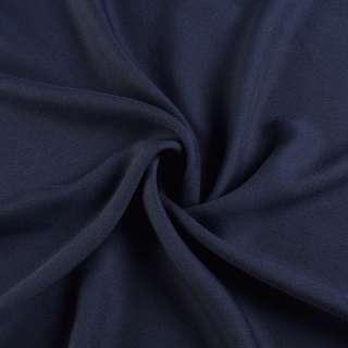 Креп вискозный синий ш.150 оптом