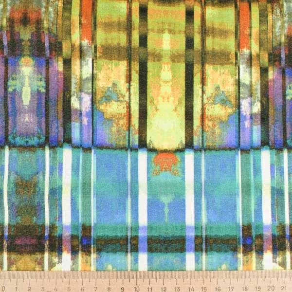"""Дубляж """"Lm.F""""овчина(10мм) на микрофибре с розово-желто-зеленым рисунком ш.140 оптом"""