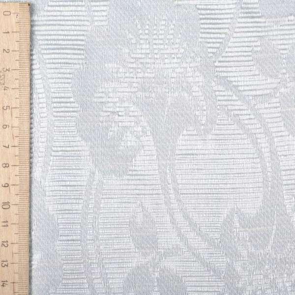 Жаккард костюмный серебристый с крупными цветами и люрексом оптом