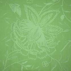 стрейч коттон салатовый с рисунком жаккард оптом
