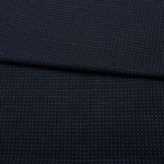Жаккард стрейч чорний в синю точку з метанітью ш.153 оптом