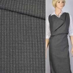 Ткань костюм. серая в полоску Германия ш.154 оптом