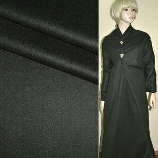 Шерсть костюмная с кашемиром в елочку серая темная PHILIPP, ш.158 оптом
