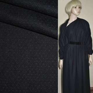 ткань костюм. сине-черная в мелкие точки Германия ш.155 оптом
