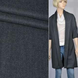 Тканина костюмна темно-сіра, ш.140 оптом