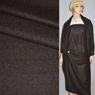 Шерсть костюмная с кашемиром коричнево-серая CERRUTI, ш.153 оптом