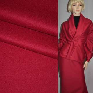 Шерсть костюмная с кашемиром красная PIACENZA, ш.154 оптом