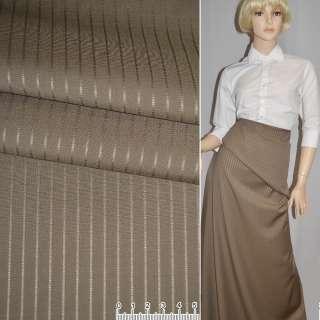 Ткань костюм. св/коричневая в полоску Германия ш.156 оптом