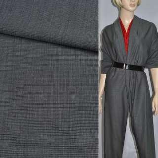 Ткань костюмная шерсть темно-серая ш. 150 см. оптом