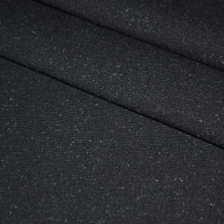 ткань кост.черная с синими ворсинками шир.155 см оптом
