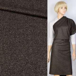 Шерсть Becker костюмная черно-коричневая, ш.155 оптом