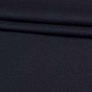 Ткань костюмная креп синяя темная, ш.150 оптом