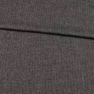 Шерсть с эластаном BECKER елочка бежево-черная, ш.145 оптом