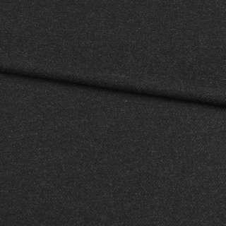 Шерсть с кашемиром черно-серая диагональ, ш.152 оптом