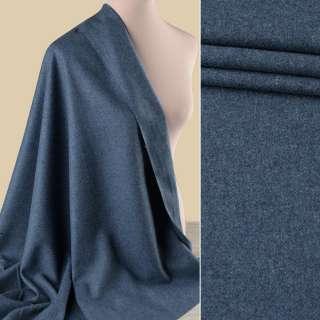 Вовна костюмна GUABELLO с кашеміром сіро-синя меланж, ш.153 оптом