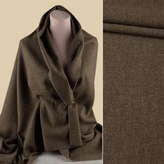 Вовна костюмна GUABELLO с кашеміром коричнева меланж ш.157 оптом