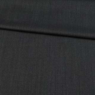 Шерсть костюмная черно-серая в точку, ш.152 оптом