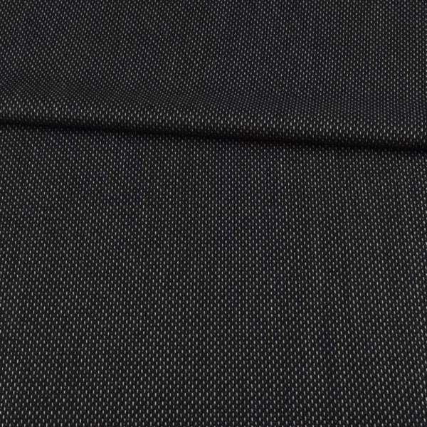 Шерсть костюмная черная в белый пунктир ш.154 оптом