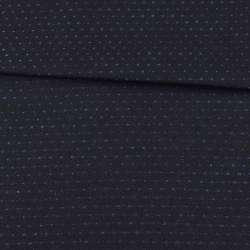 Шерсть костюмная двухсторонняя черная в синюю точку ш.152 оптом