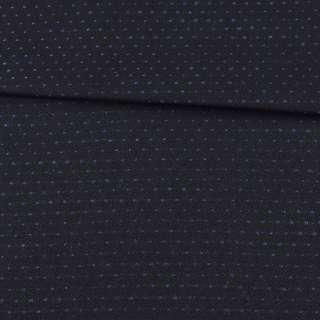 Шерсть костюмна двостороння чорна в синю точку ш.152 оптом