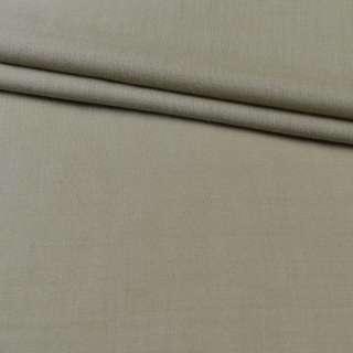 Ткань костюмная серо-бежевая с оливковым оттенком, ш.140 оптом