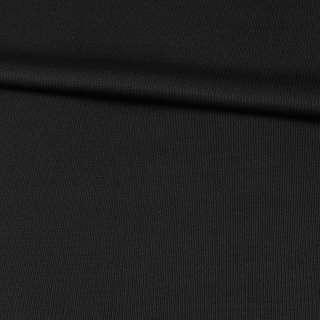 Шерсть костюмная черная в светлую точку, ш.160 оптом