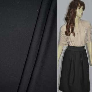 Ткань костюмная черная в полоску оптом