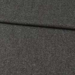 Кашемир шерстяной костюмный серый темный ш.150 оптом