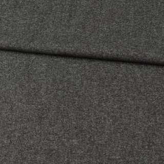 Кашемір вовняний костюмний сірий темний ш.150 оптом