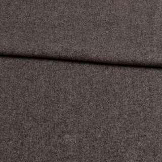 Твид шерстяной мягкий костюмный серый темный, ш.155 оптом