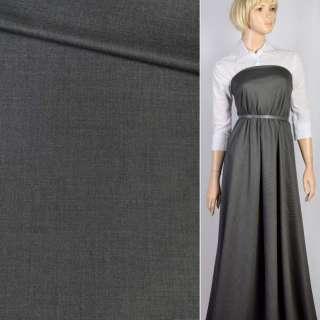 Ткань костюмная серая светлая меланж, ш.150 оптом