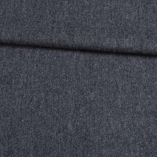 Шерсть костюмная серо-синяя меланж, ш.155 оптом