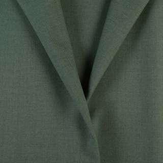 Ткань костюмная зеленая с серым оттенком, ш.154 оптом