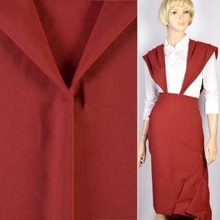 Ткань костюмная красная темная, ш.150 оптом