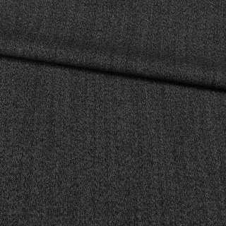 Шерсть костюмная Becker черно-серая меланж, ш.158 оптом