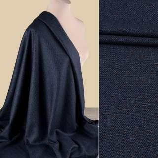 Вовна костюмна HARRIS TWEED синя в дрібний візерунок ш.155 оптом