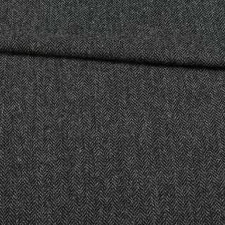Твид Becker костюмный черно-серая елочка, ш.153 оптом