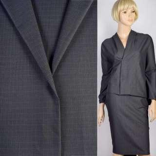 Ткань костюмная серо-черная гусиная лапка, ш.145 оптом