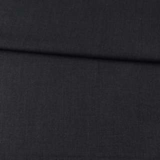 Габардин стрейч вовняний костюмний чорно-сірий ш.155 оптом