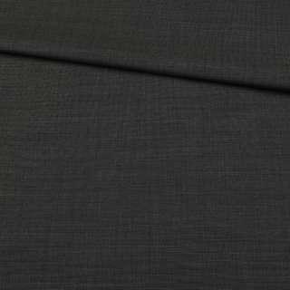 Шерсть костюмная черная в бежевую точку, ш.152 оптом