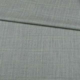 Шерсть костюмна в оливково-зелену клітку ш.150 оптом