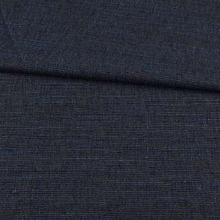Рогожка сіра темна, сині нитки, ш.155 оптом
