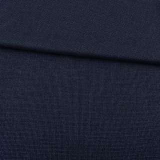 Шерсть костюмная сине-черная с мелким рельефным плетением ш.153 оптом