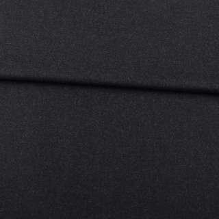 Шерсть стрейч чорно-сіра ш.152 оптом