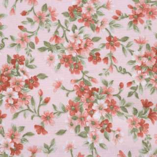"""Коттон """"Англия"""" персиковый в терракотовые цветы ш.110 оптом"""