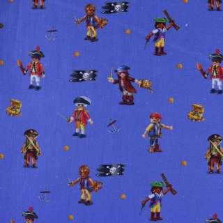 "Коттон ""Popelin"" ультрамарин с пиратами ш.147 оптом"