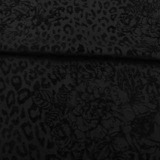 Коттон стрейч черный с флоком ш.160 оптом